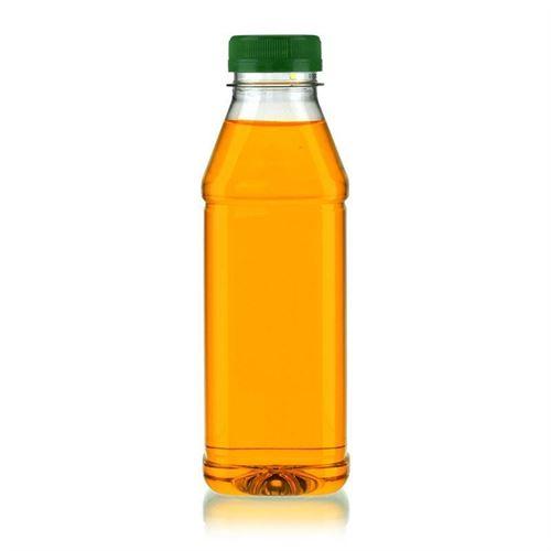 "500ml PET Weithalsflasche ""Milk and Juice Carree"" grün"