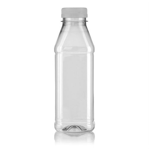 "500ml PET Weithalsflasche ""Milk and Juice Carree"" weiß"