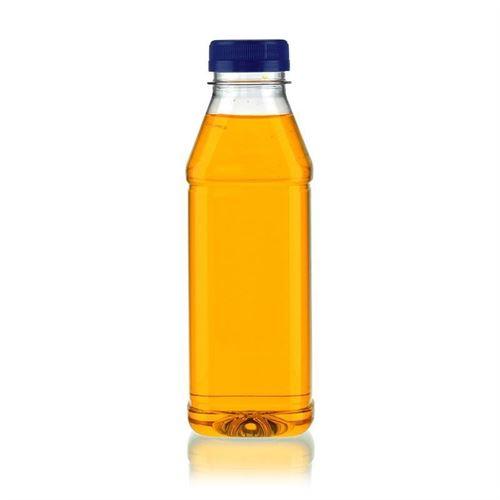 """500ml PET flaske med bred hals """"Milk and Juice Carree"""" blå"""