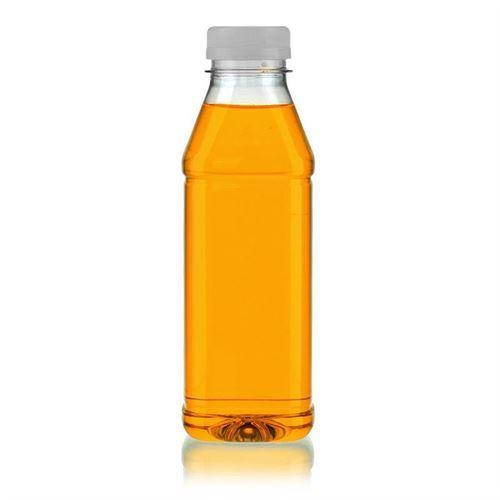 """500ml PET flaske med bred hals """"Milk and Juice Carree"""" hvid"""
