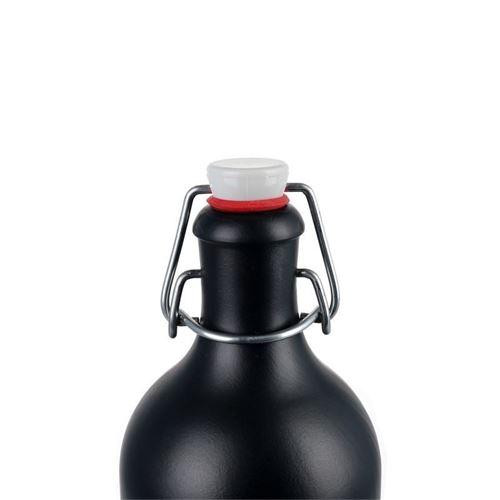 500ml Steinzeugkrug Bügel schwarz-matt