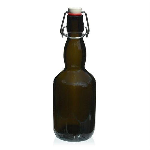 """500ml antikgrøn ølflaske """"Winner"""""""