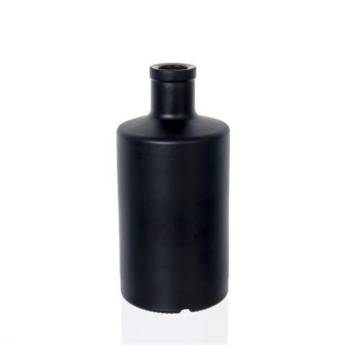 500ml Black Frosted Glass Bottle Quot Caroline Quot Cork World