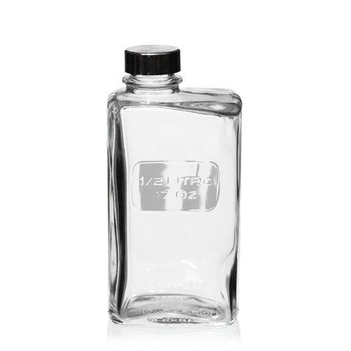 500ml botella de vidrio transparente 'Optima Lattina'