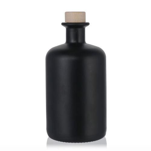 500ml botella farmaceútica de vidrio negra mate