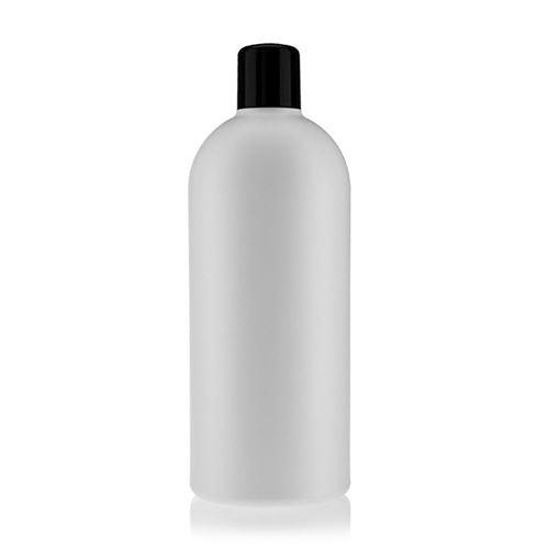 """500ml bottiglia HDPE """"Tuffy"""" nero con chiusura a spruzzo"""