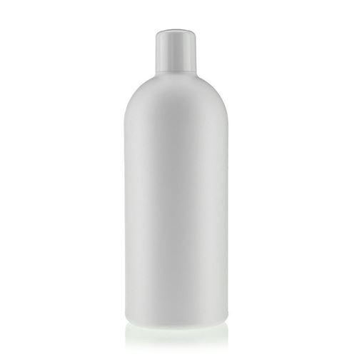 "500ml bouteille HDPE ""Tuffy"" blanc avec doseur"
