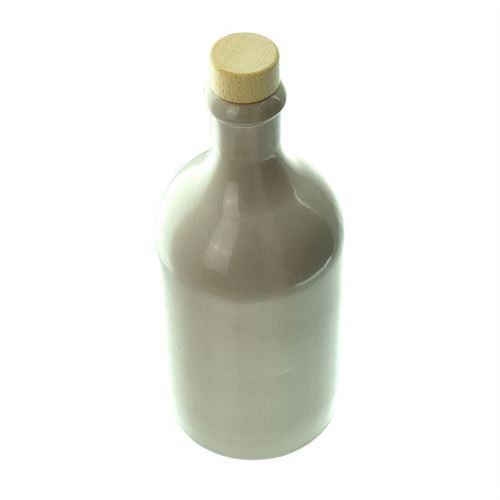 """500ml bouteille en grès """"beige"""" avec liège"""