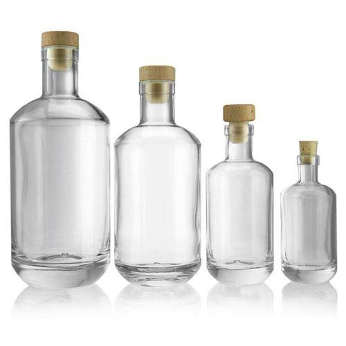"""500ml bouteille verre clair """"Vienna"""""""