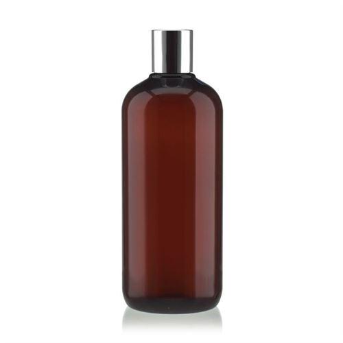 """500ml braune PET-Flasche """"Victor's Best"""" mit DiscTop, silber"""