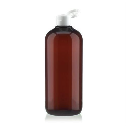 """500 ml brun PET-flaske """"Victor's Best"""", med hvidt klaplåg"""