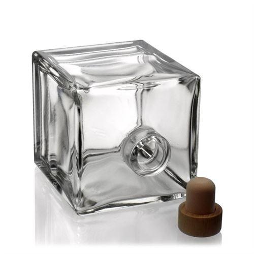 "500 ml glasflaske ""Cube"", klar"