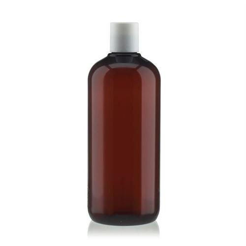 """500 ml brun PET-flaske """"Victor's Best"""", med hvidt DiscTop"""