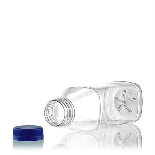 "500ml PET brede hals fles ""Milk and Juice Carree"" blauw"