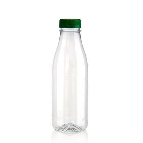 "500ml Botella PET con gollete ancho ""Milk and Juice"" verde"