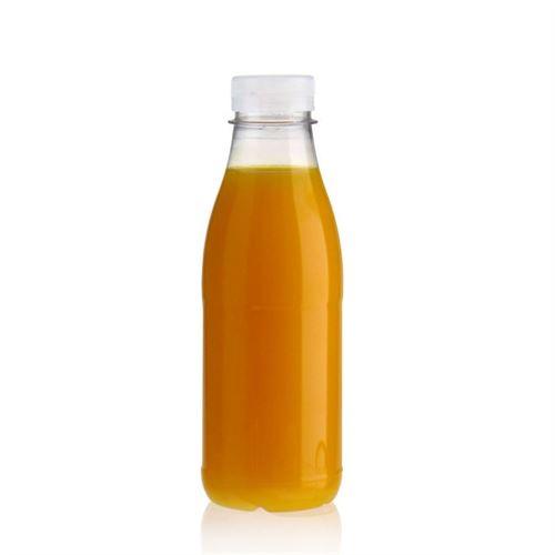 """500ml Bottiglia PET a collo largo """"Milk and Juice"""" bianco"""