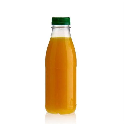 """500ml Bottiglia PET a collo largo """"Milk and Juice"""" verde"""