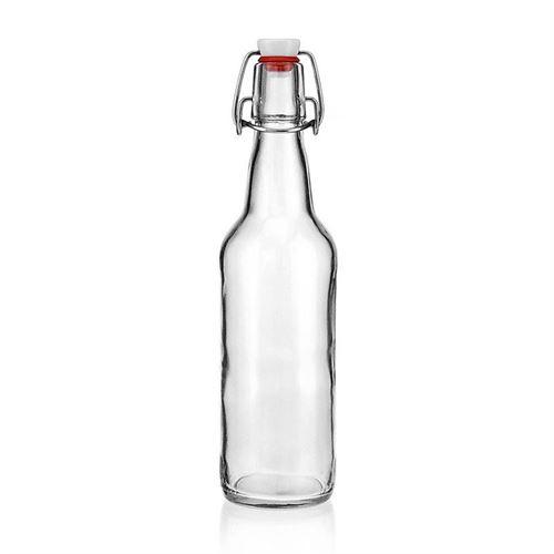 "500ml Bottiglia in vetro chiaro ""Bendolino"""