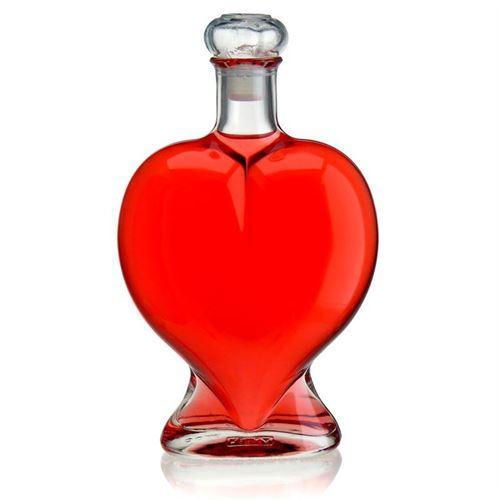 """500ml Bottiglia in vetro chiaro """"Cuore"""""""