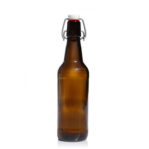 """500ml Bottiglia in vetro marrone per birra """"Mastro birraio"""""""