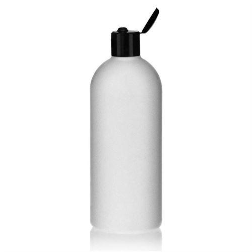 "500ml HDPE-flaske ""Tuffy"" sort, med klaplåg"