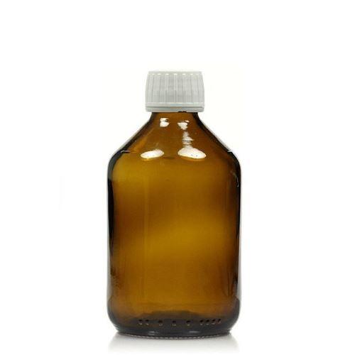 500ml braune Medizinflasche mit 28mm-Originalitätsverschl.