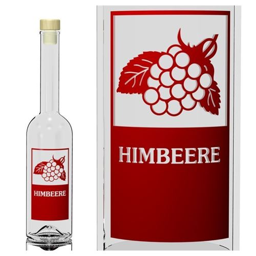 """500ml Opera-Flasche """"Himbeere"""""""