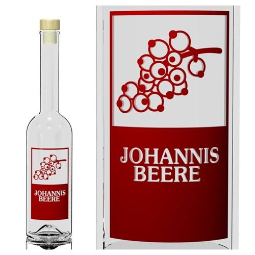 "500ml Opera-Flasche ""Johannisbeere"""