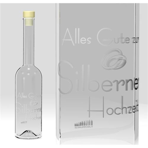 500ml Opera Flasche Silberne Hochzeit