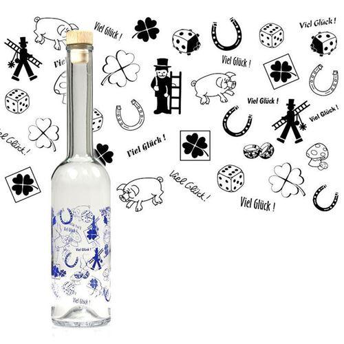 """500ml Opera-Flasche """"Viel Glück"""""""