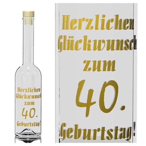 500ml Opera Geburtstagsflasche 40 Jahre