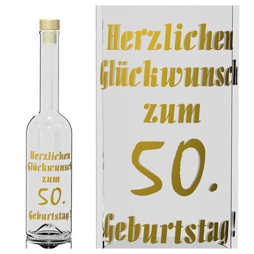 500ml Opera Geburtstagsflasche 50 Jahre