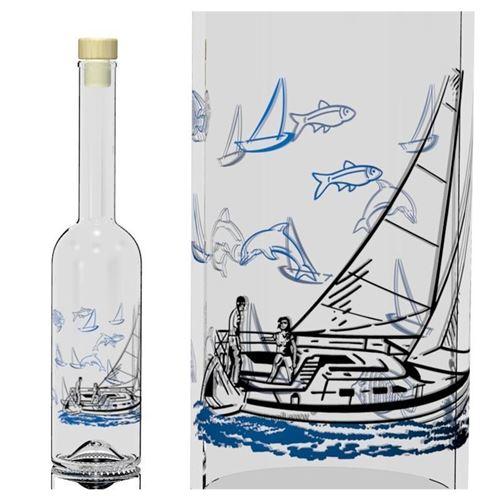 """500ml Opera-flaske """"Sejlbåd"""""""