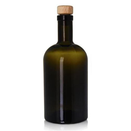 "500ml antiek groene apotheker fles ""Farmacia"""