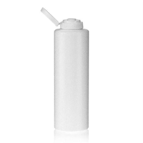 """500ml bottiglia LDPE """"Whity"""" con tappo Flip top"""