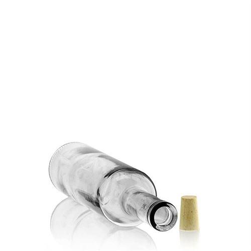 500ml bordeaux verre clair avec bande