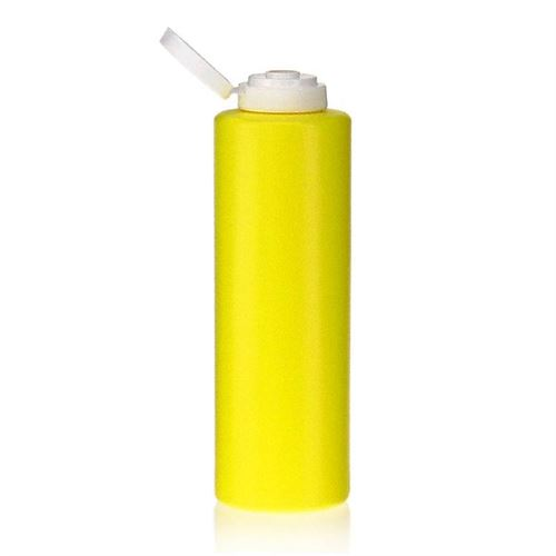 "500ml botella LDPE ""Yellow"" con tapón bisagra"