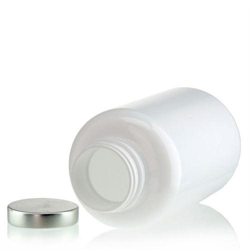 "500ml botella PET ""Packer"" blanco con con tapón de rosca en aluminio"