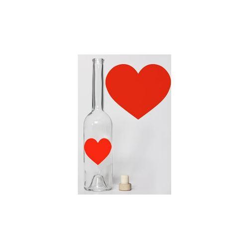 "500ml botella ""Corazón rojo chillón"""