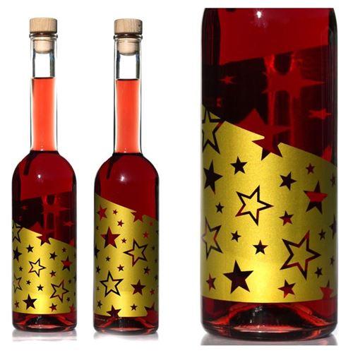 """500ml botella estampada de efecto decorativo """"Estrellas Doradas"""""""