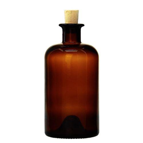 500ml botella farmaceútica en el color marrón