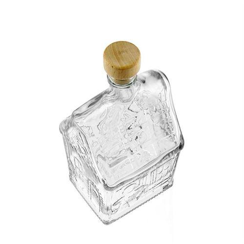 """500ml bottiglia in vetro chiaro """"Casa di natale"""""""