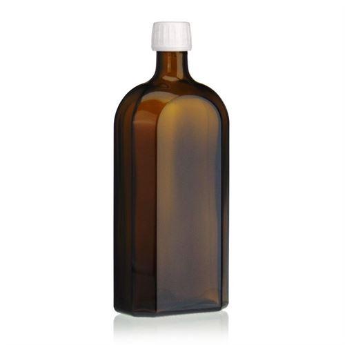 500ml bottiglia per medicina speciale marrone con chiusura originale di 28mm
