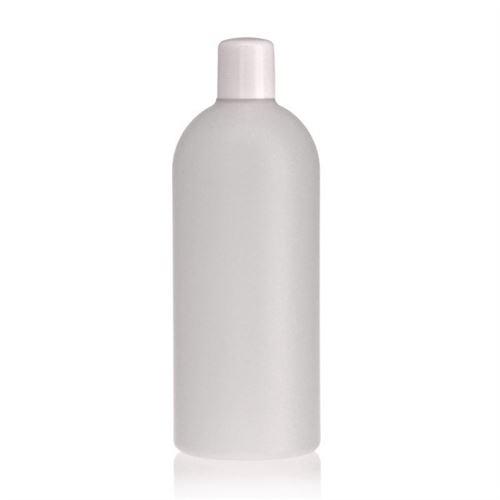 "500ml bouteille HDPE ""Tuffy"" nature/blanc avec doseur"
