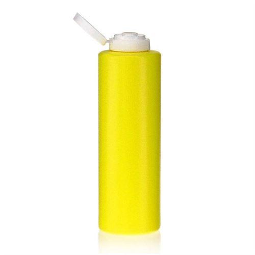"""500ml bouteille LDPE """"Yellow"""" avec couvercle à clapet"""