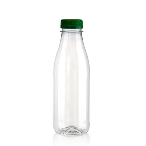 """500ml bouteille col large PET """"Milk and Juice"""" vert"""