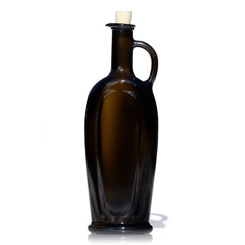 "500ml bouteille huile/vinaigre vert antique ""Eleganta"""