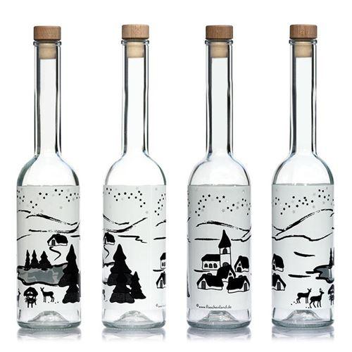 """500ml bouteille imprimée """"Rêve d'hiver-BIANCO"""""""