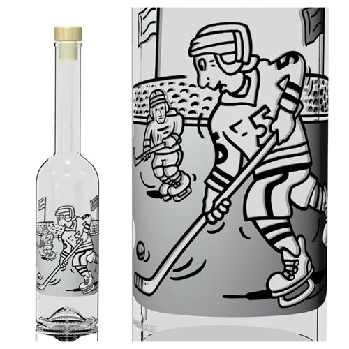 "500ml bouteille opera ""hockey sur glace"""