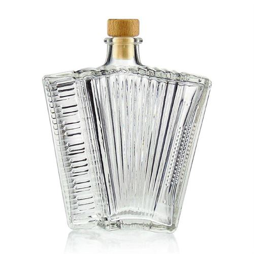 "500ml clear glass bottle ""Accordion"""